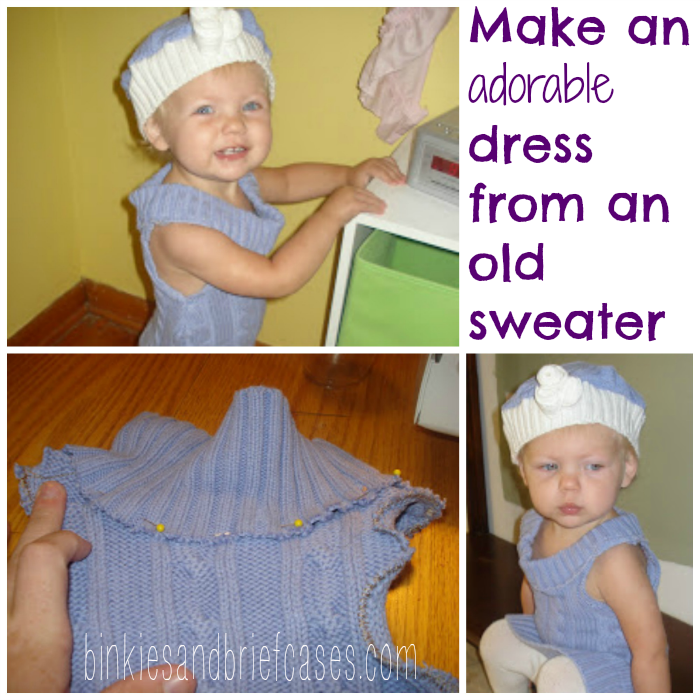 How to make a toddler dress from an old sweater