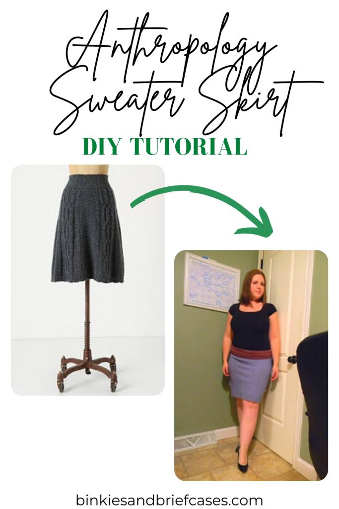 Anthropology Sweater Skirt Tutorial