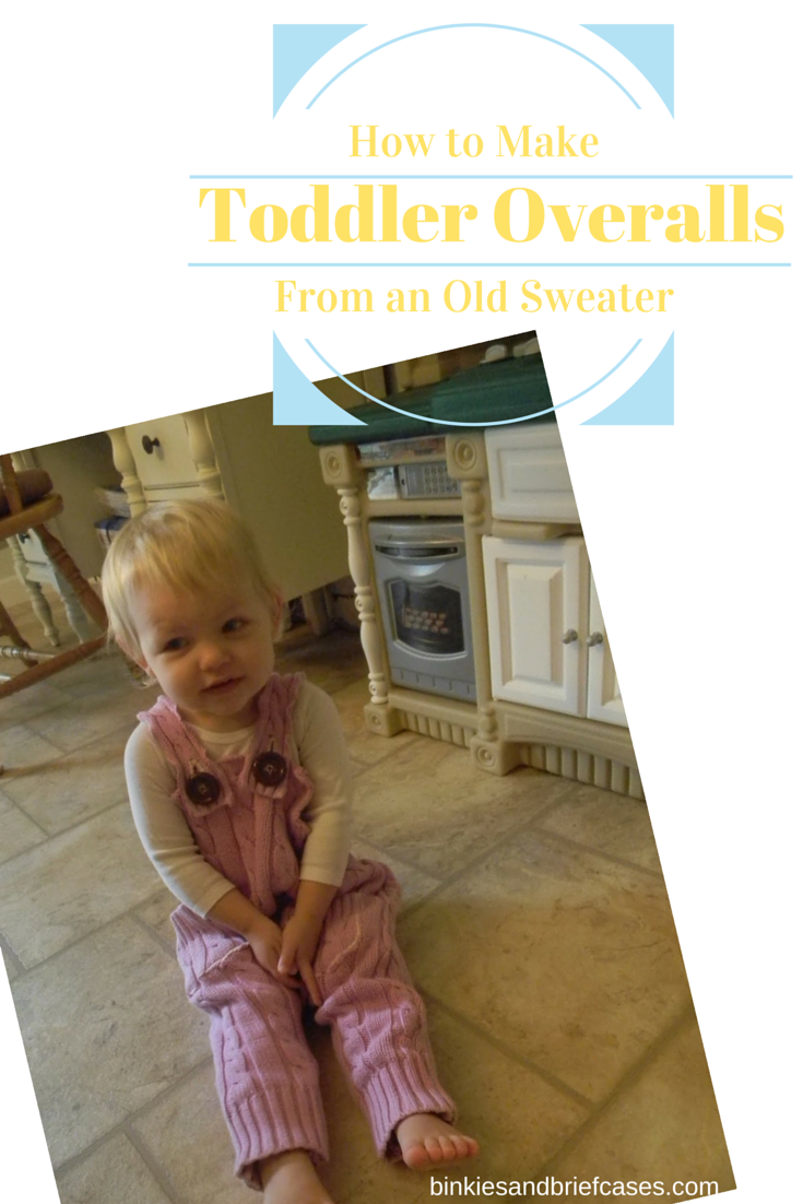 How to Make Toddler Overalls from an Old Sweater