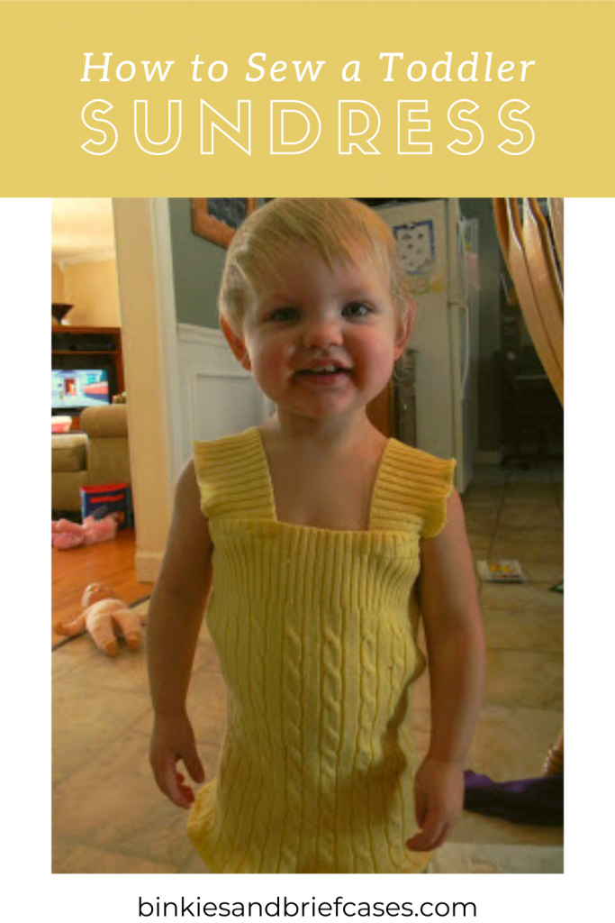 How to Sew a Toddler Sundress