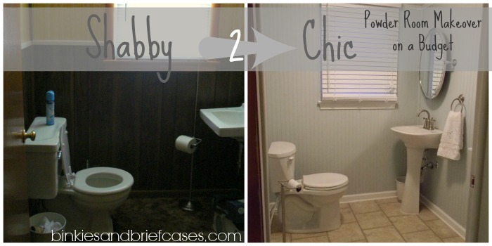 Powder Room Makeover powder room makeover • binkies and briefcases