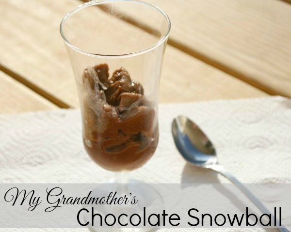 chocolate snowball dessert recipe