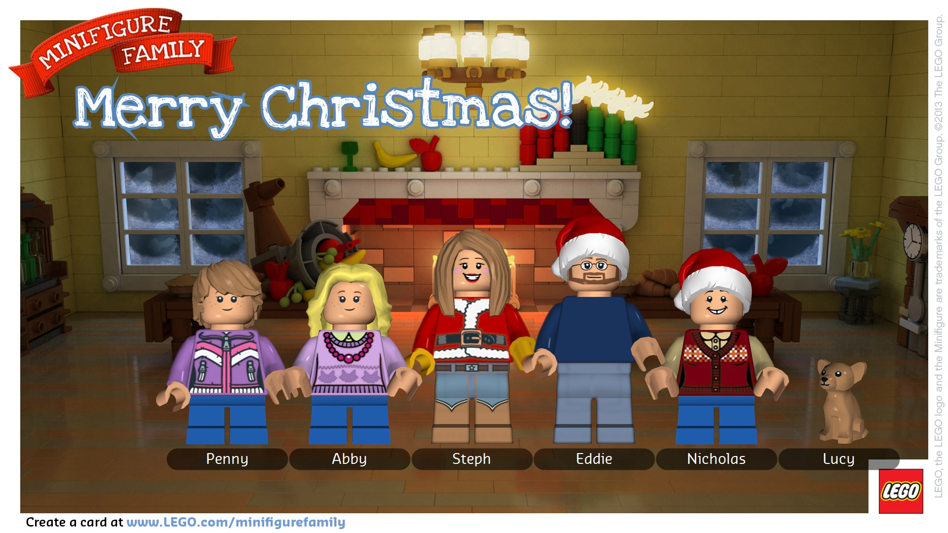 Lego Minifigure Holiday Cards • Binkies and Briefcases