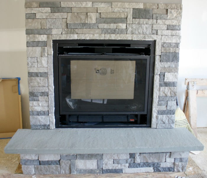 DIY Stone Fireplace with AirStone • Binkies and Briefcases
