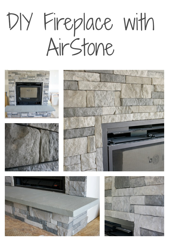 Tremendous Diy Stone Fireplace With Airstone Binkies And Briefcases Interior Design Ideas Inesswwsoteloinfo