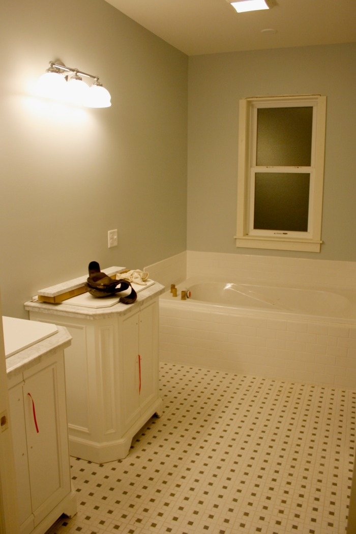 Almost done! Master bath