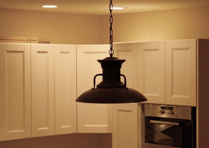 almost done! Kitchen light from Overstock