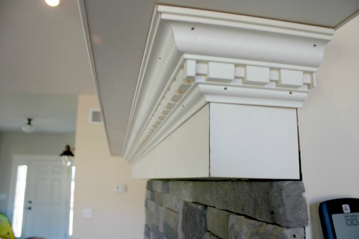 DIY crown molding mantle