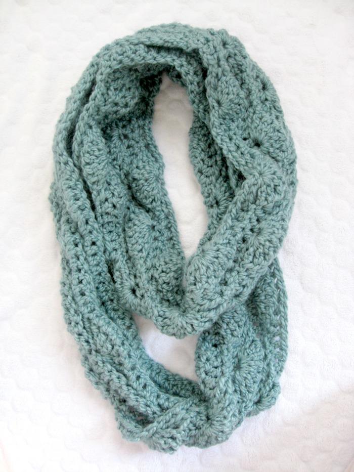 neon fireflies blue scarf