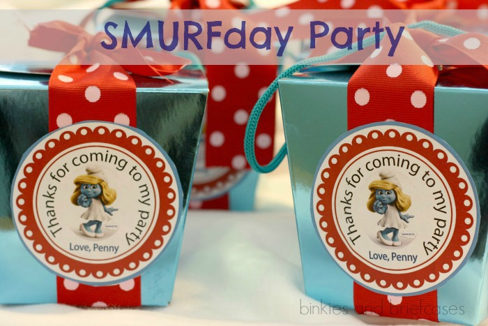 smurf themed party ideas