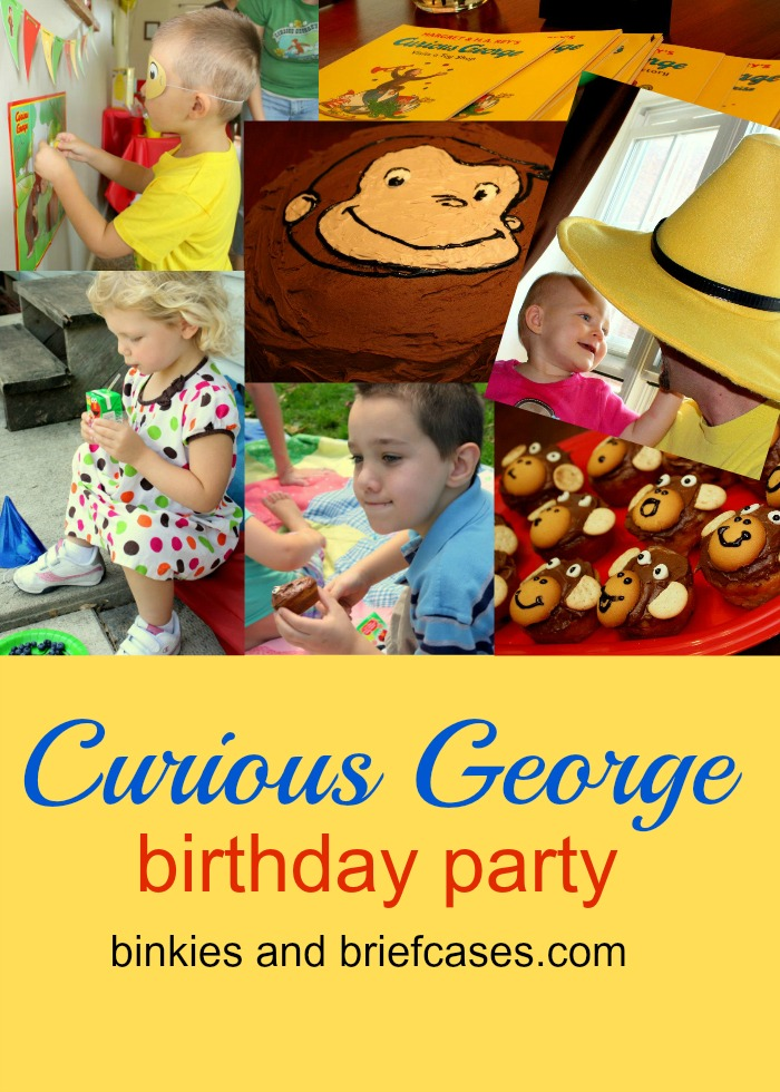 A Curious George themed birthday party