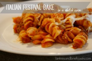 Italian festival bake. A dutch oven recipe