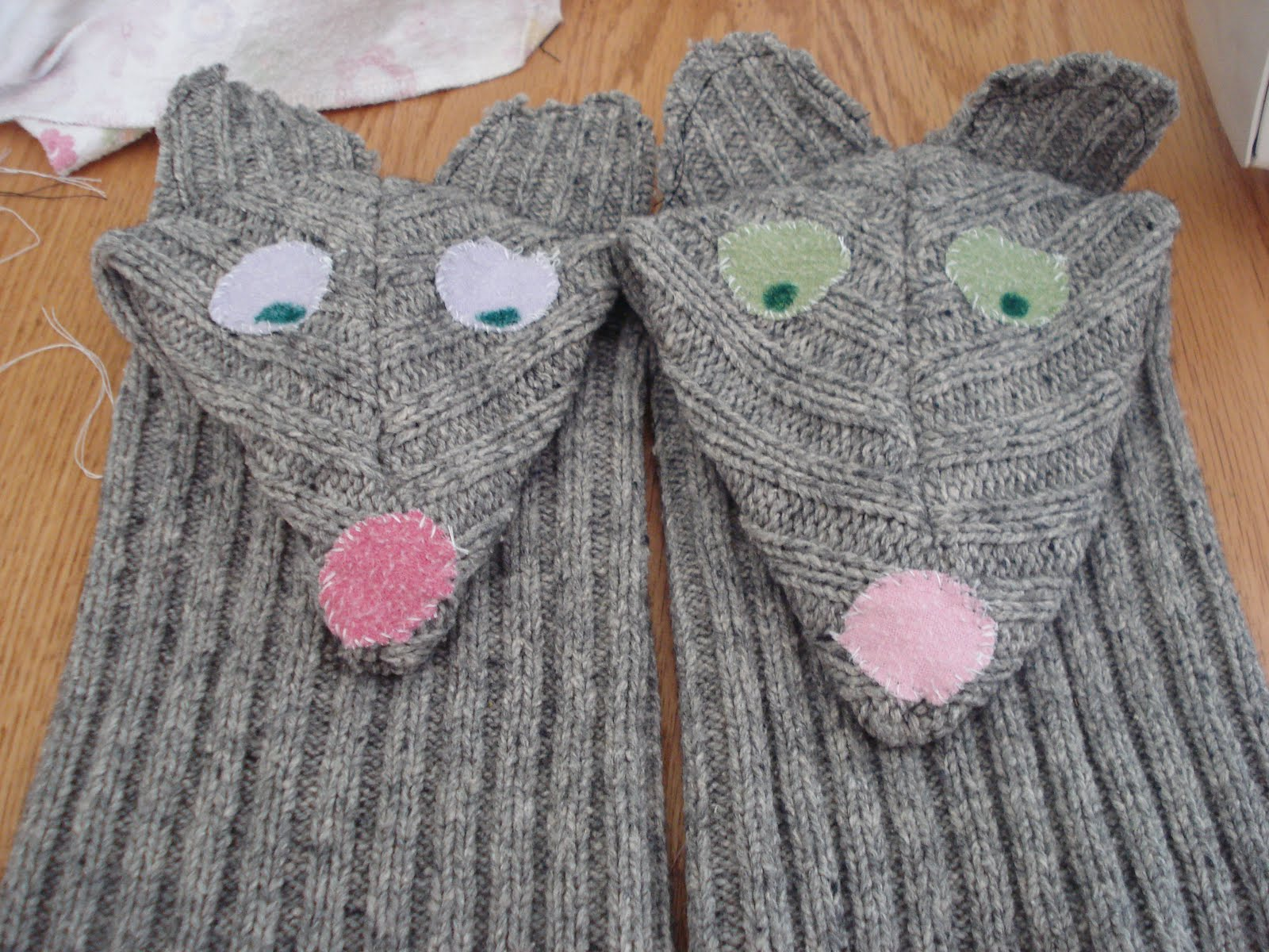 puppets from sweaters