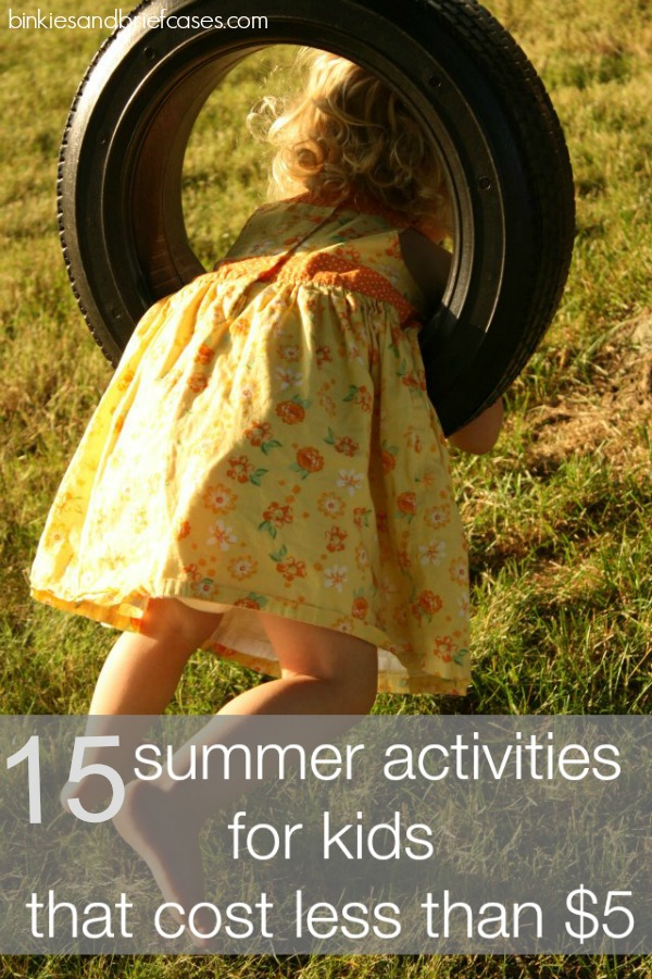 Great affordable activities for kids. Everything on this list seems really doable.
