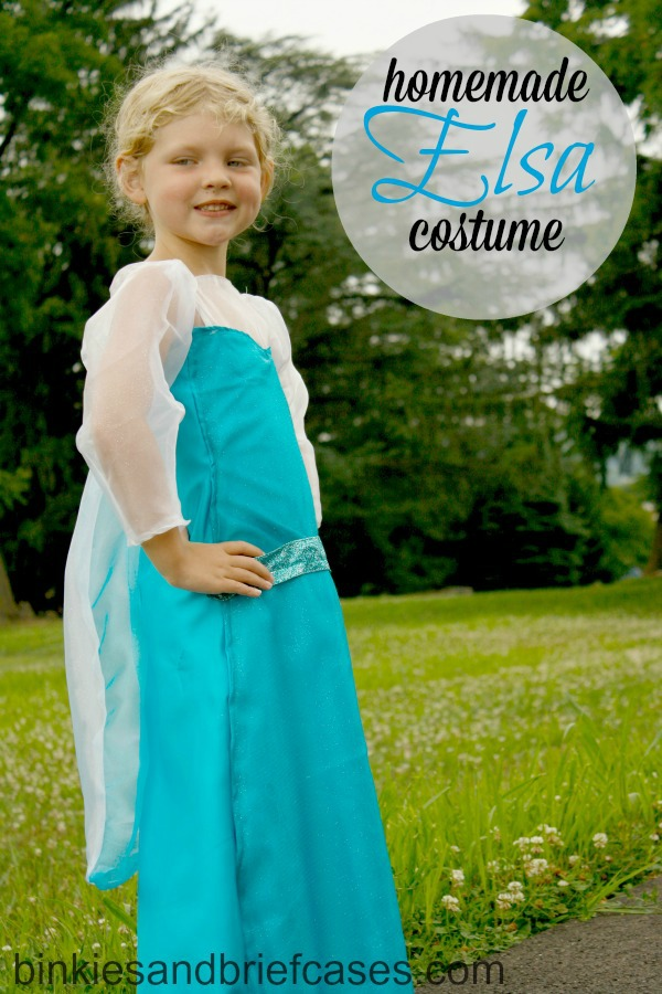 homemade Elsa costume from Binkies and Briefcases. #Disney #Elsa #costume