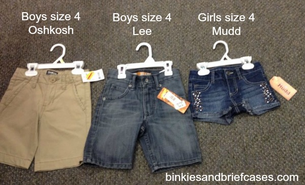 Comparing brands of shorts