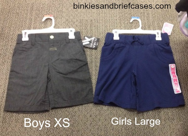 boys v girls clothes