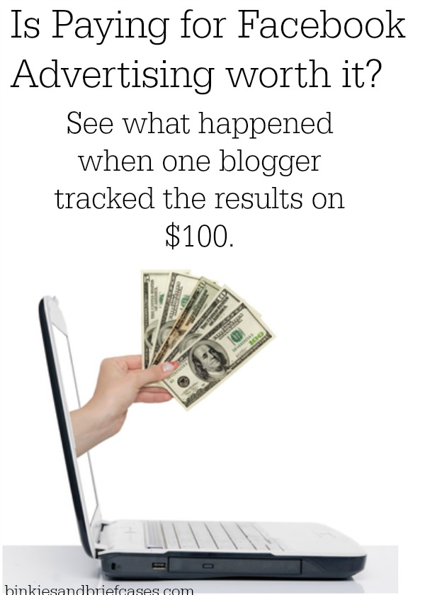 A blogger tracked the results of her Facebook advertising campaign to see if it was worth the investment. The results are pretty interesting.