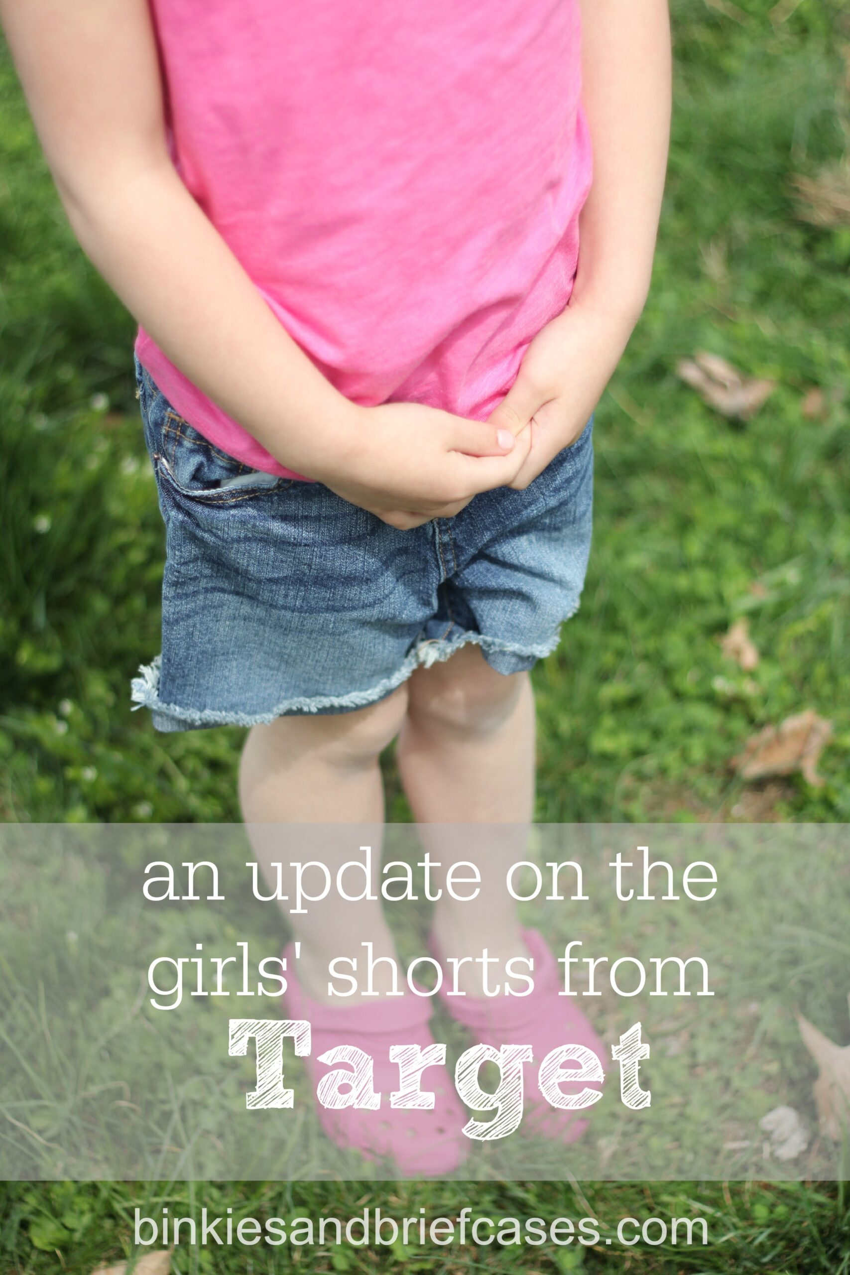 An update on the girls' shorts from Target