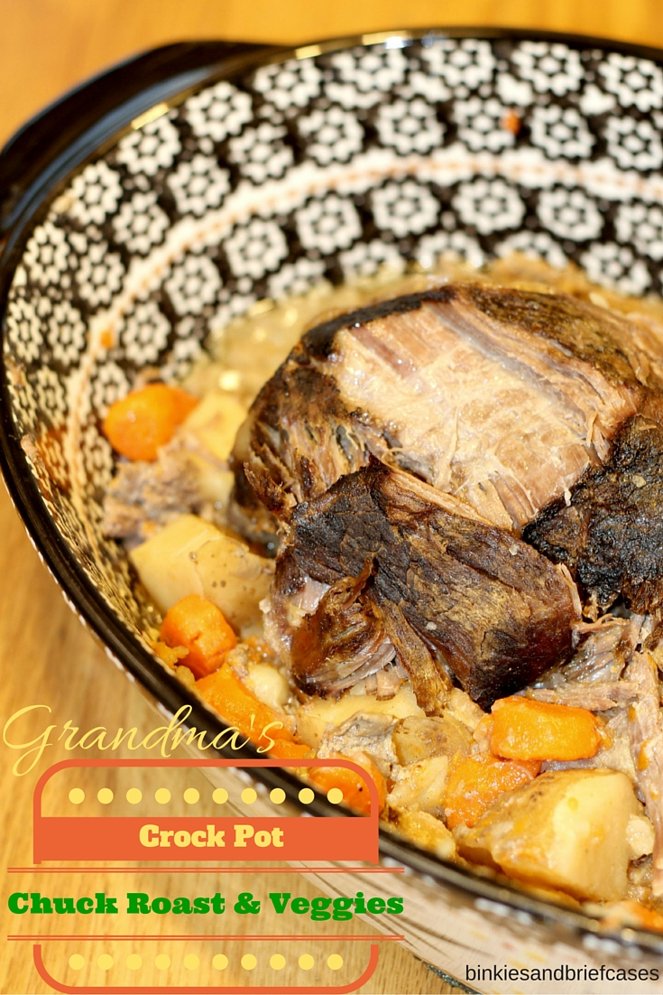 One Pot Meal- Chuck Roast with carrots and potatoes