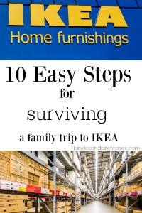 Every family goes through this in a warehouse store. So funny! You have to love IKEA, though. Maybe not as much when traveling with kids