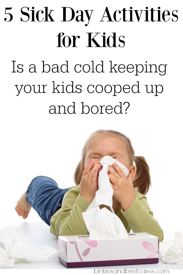 Low-key activities for kids to do when they are home sick |sponsored| |KnowYourOTCs|