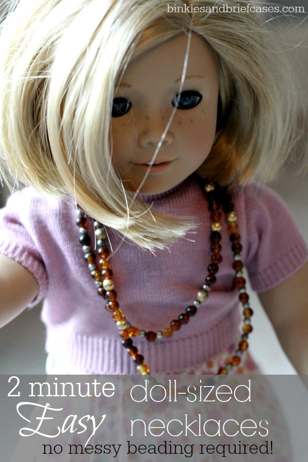 Easy necklaces for American Girl dolls