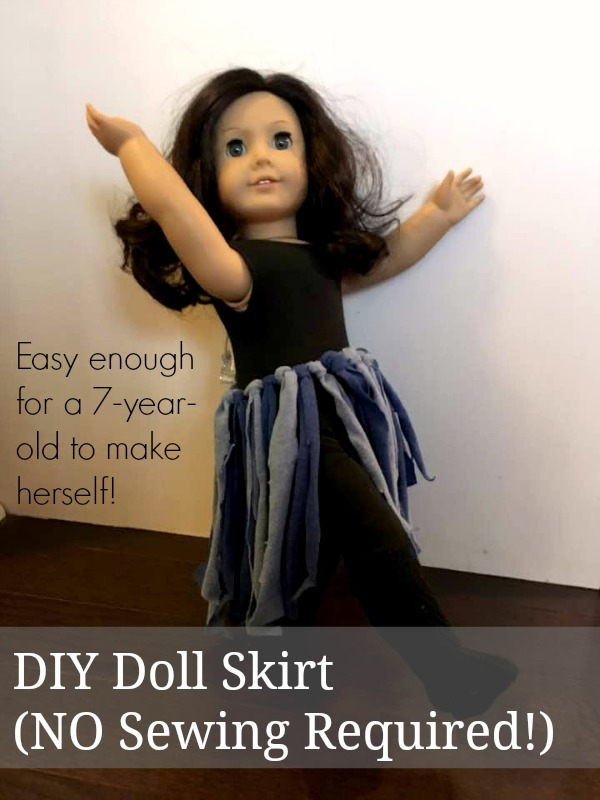 Make your own American Girl ballet skirt. It's easy and fast!