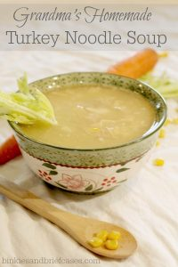 Homemade turkey soup recipe. Warms the soul and great for using left-overs!