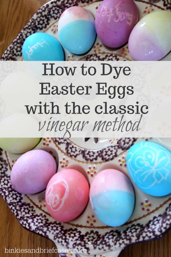 How to Dye Easter Eggs With Vinegar and Food Coloring • Binkies and ...