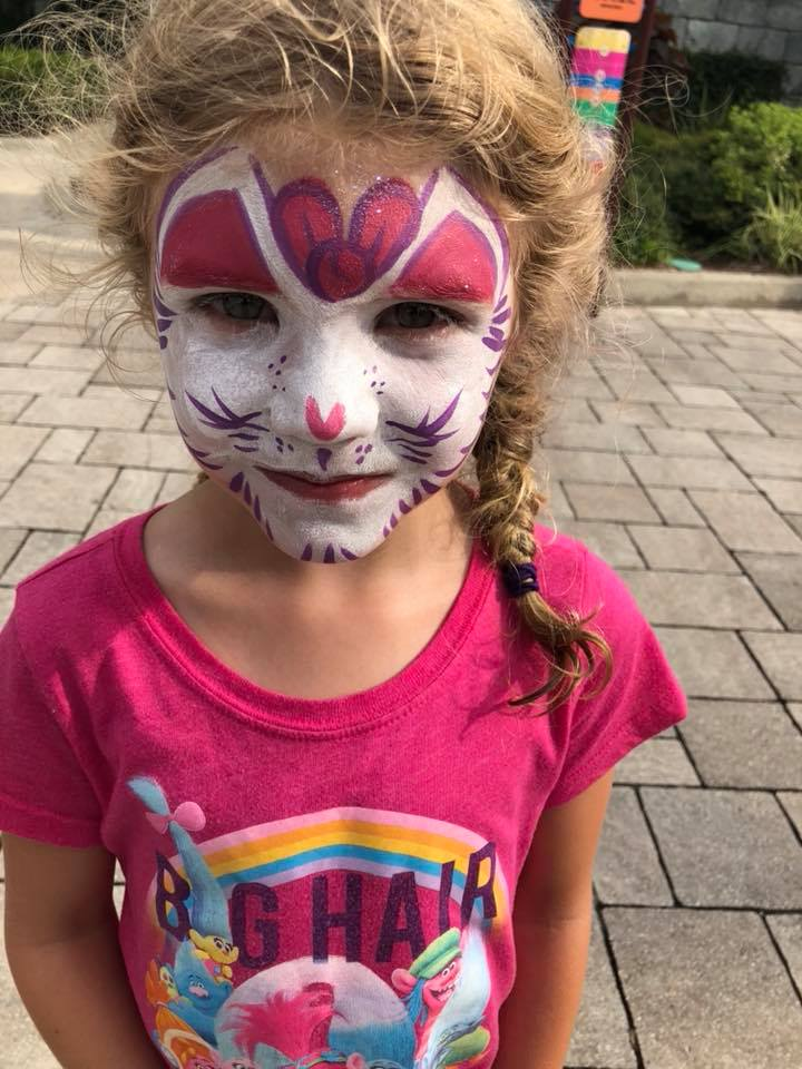 face painting at LEGOLAND