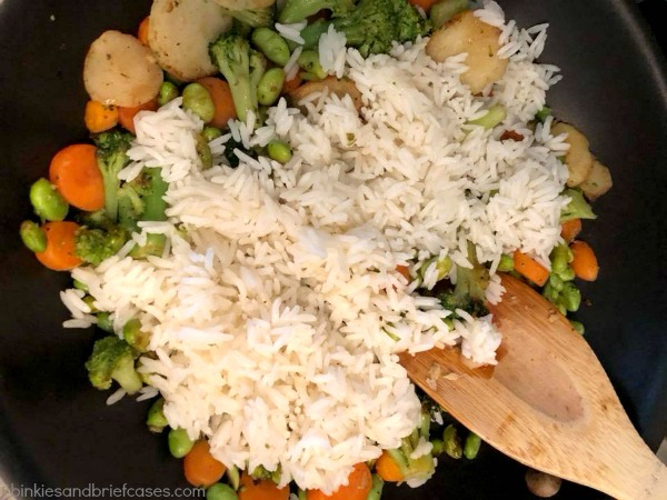 vegetable fried rice out of left-overs