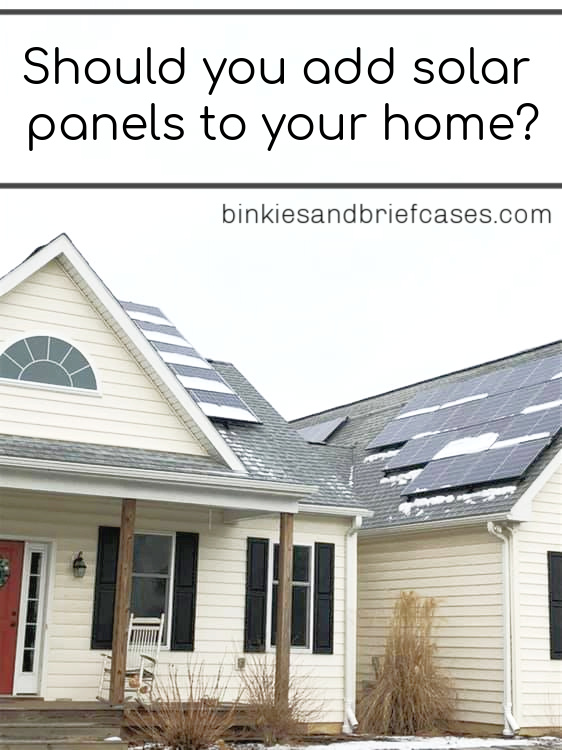 Adding solar panels to your home