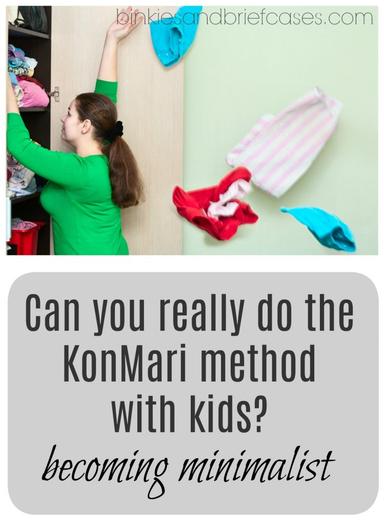 using the KonMari method to become minimalist with kids