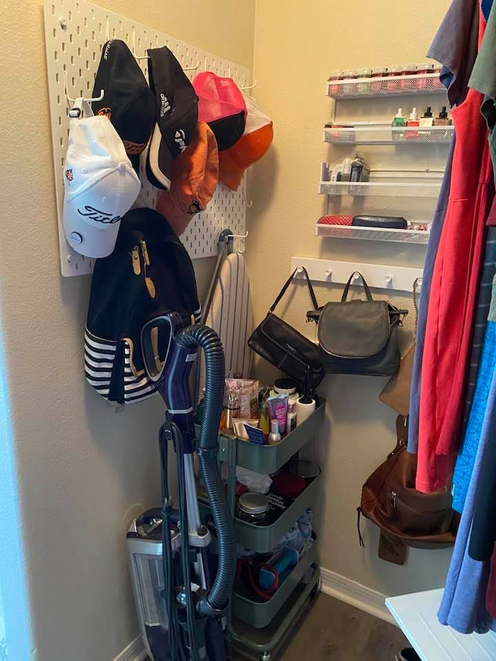 master closet pegboard