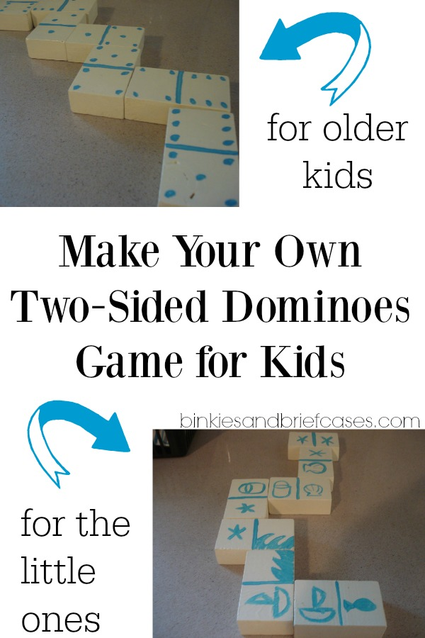 How to make double-sided dominoes out of just one board from the home improvement store. Love that these can be adjusted and used by kids of multiple age groups!