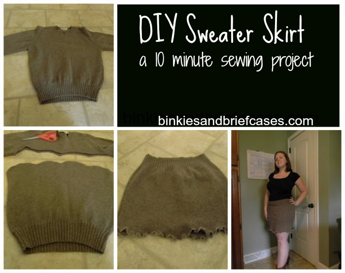how to make a sweater skirt in ten minutes