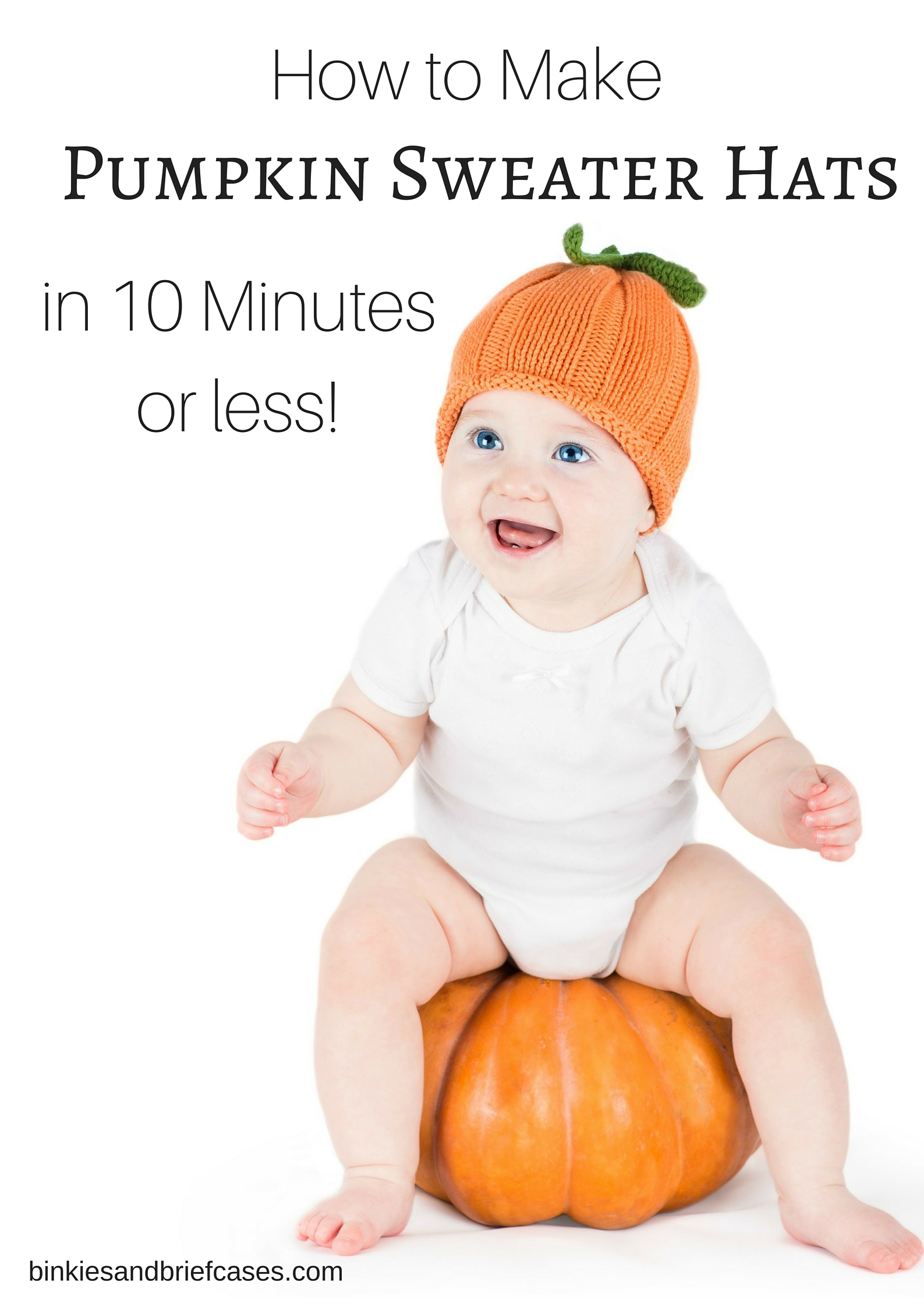 How to make adorable pumpkin sweater hats in less than ten minutes out of upcycled sweaters