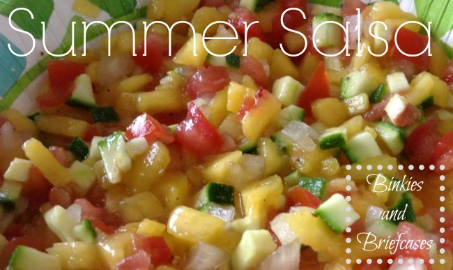 peach salsa from Binkies and Briefcases
