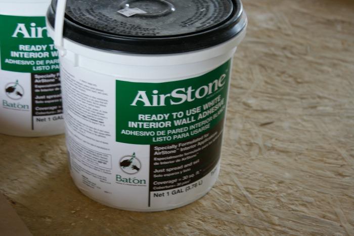 Airstone adhesive