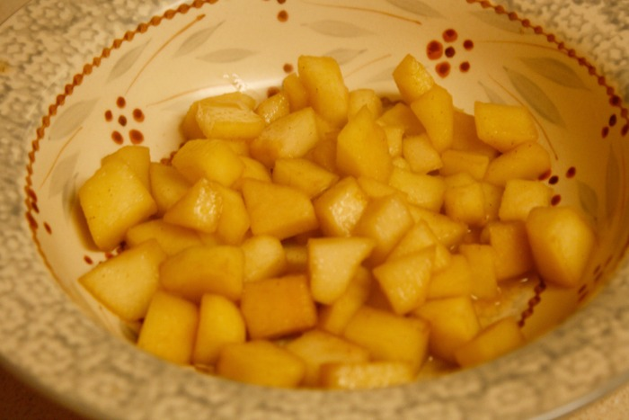 apples spiced and warm