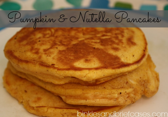 Pumpkin and Nutella Pancakes for fall