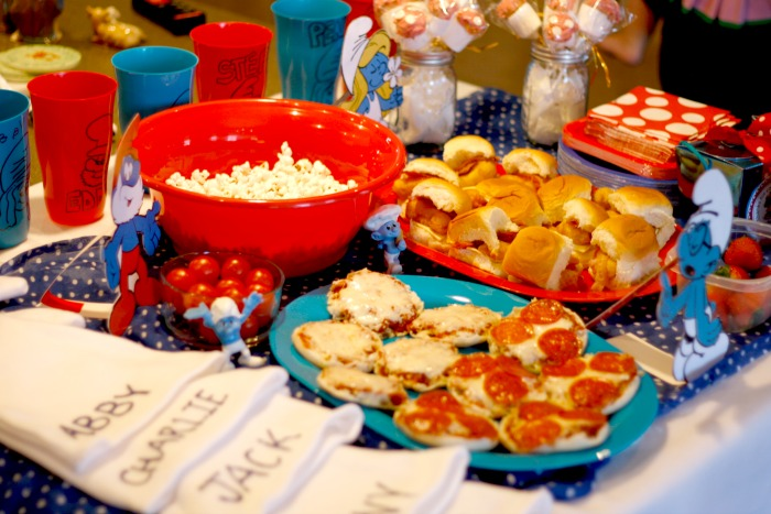 smurf party food table  #shop