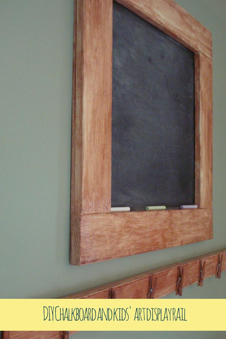 DIY Chalkboard and kids' art display