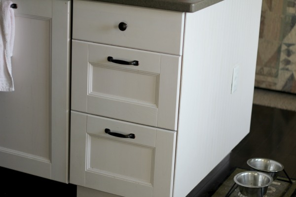Deep Drawers In Ikea Cabinets Beadboard To Cover The Side Of Island