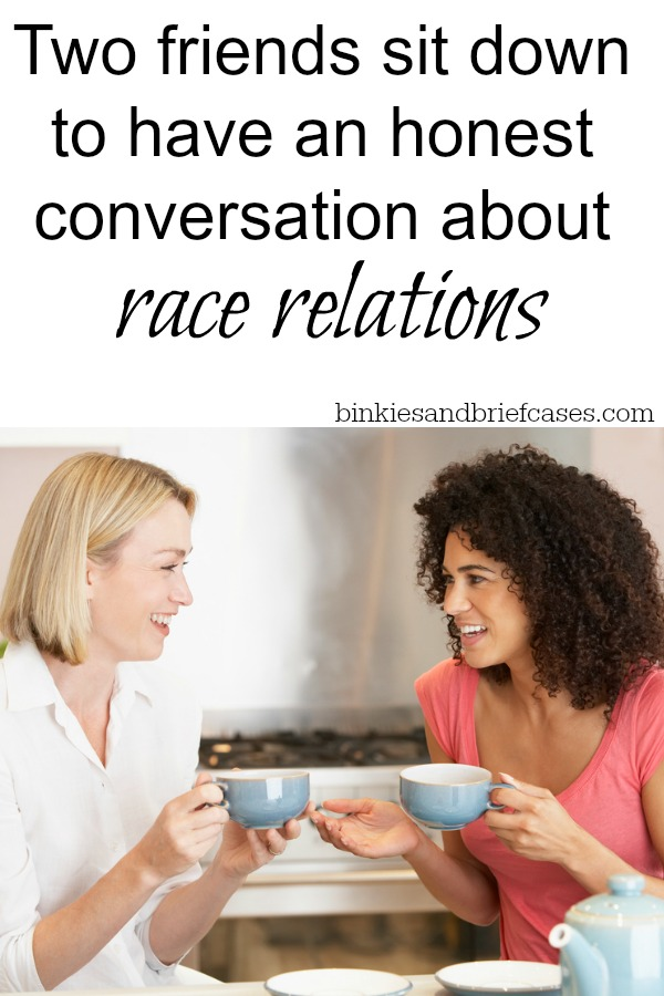Two moms who have been friends since elementary school sat down to have an open dialogue about race in America