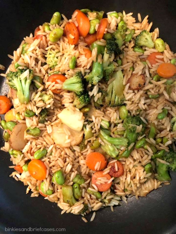 This vegetable fried rice is vegan and gluten free