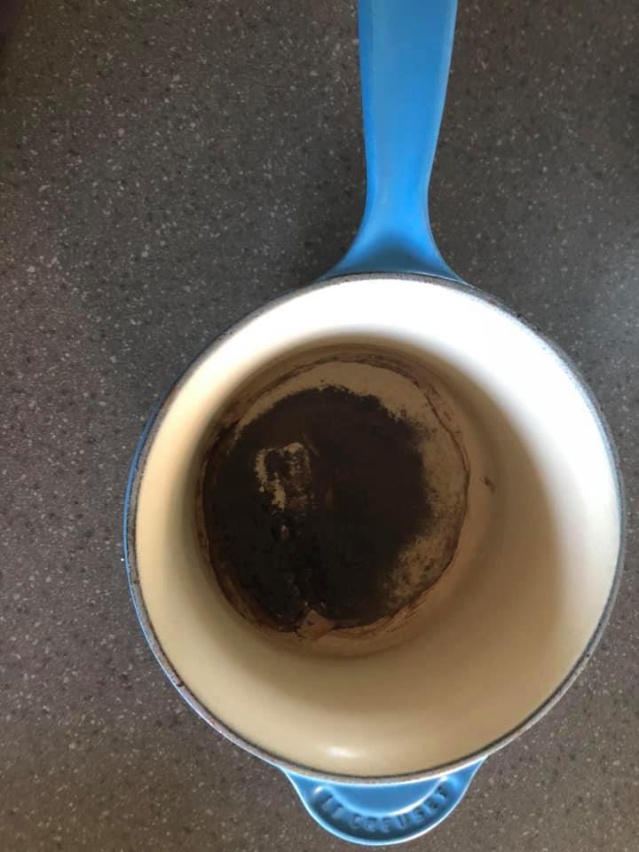 how to restore a burnt pot