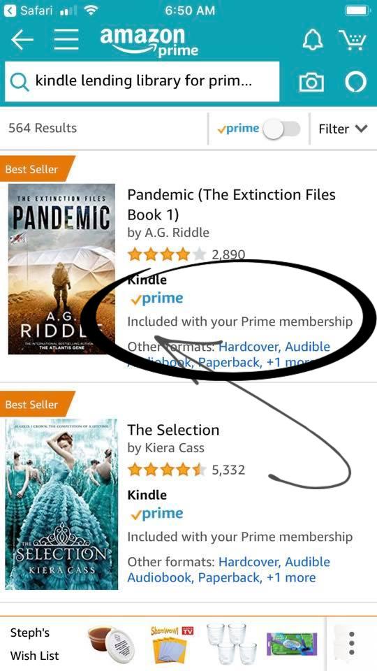 How to borrow books with Amazon Prime