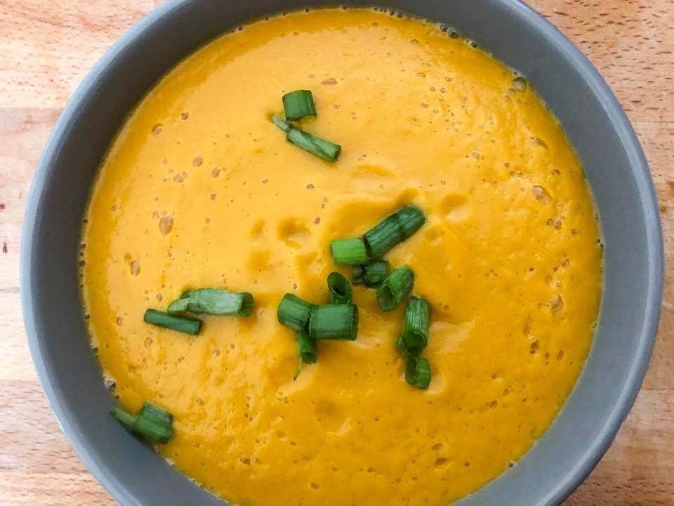 vegan, gluten free sweet potato soup